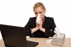 dreamstime_4714415-flu season working woman